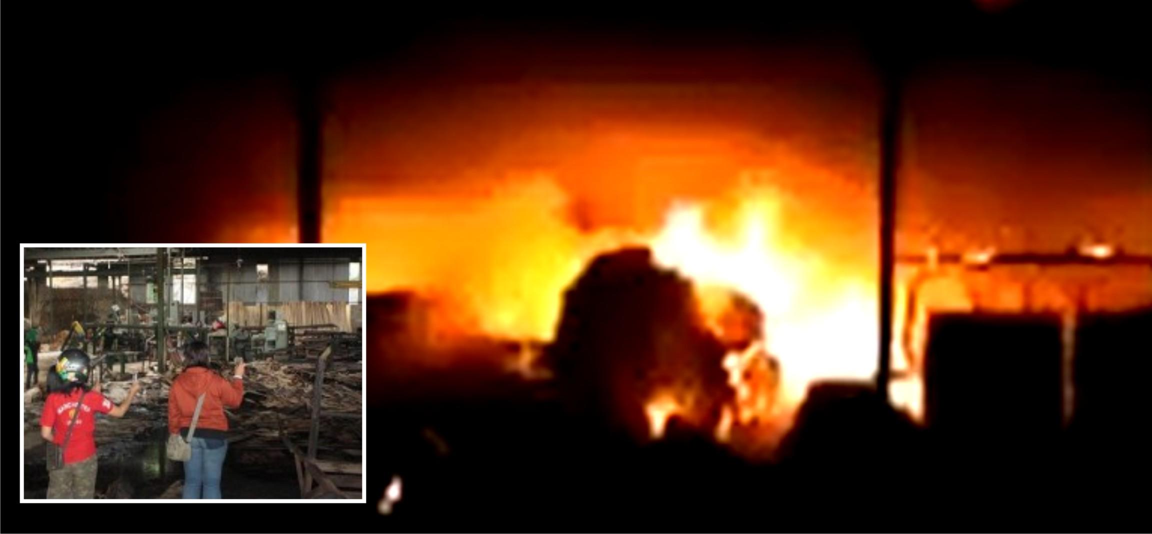Kebakaran Pabrik Kayu (Foto : Siaga)