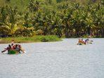 Muara Sungai Maron yang dimanfaatkan untuk Lomba Dayung Ngiroboyo. (Foto : Doc. Pacitanku)