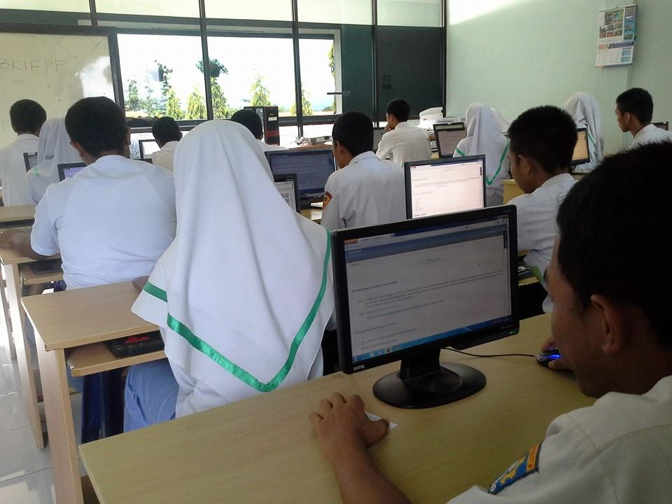 try out UN Online (Foto : Luqman)
